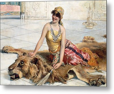 Beauty From The Harem Metal Print by Adolfo Belimbau