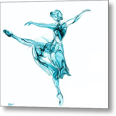Beauty, Grace And Music Of The Ballerina Metal Print by Abstract Angel Artist Stephen K