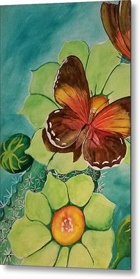 Beauty In Butterflies Metal Print by Joetta Beauford