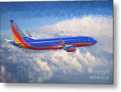 Beauty In Flight Metal Print