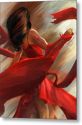 Metal Print featuring the digital art Beauty In Motion by Steve Goad