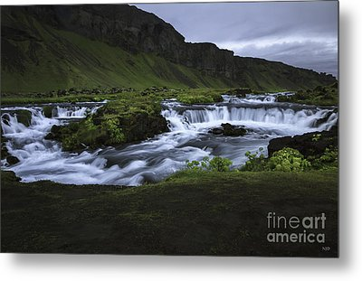 Beauty Is Everywhere In Iceland Metal Print by Nancy Dempsey