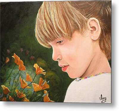 Metal Print featuring the painting Beauty by Mike Ivey