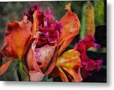 Metal Print featuring the mixed media Beauty Of An Orchid by Trish Tritz