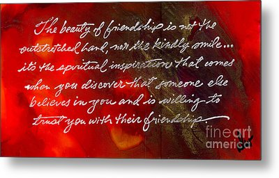 Beauty Of Friendship Metal Print