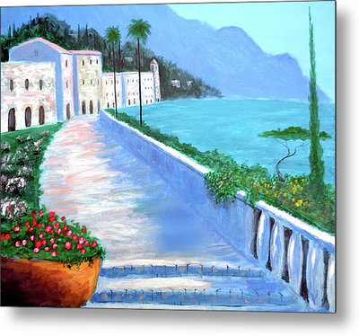 Beauty Of The Riviera Metal Print by Larry Cirigliano
