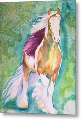 Metal Print featuring the painting Beauty by P Maure Bausch