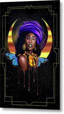 Beauty Queen Tia Metal Print by Kenal Louis