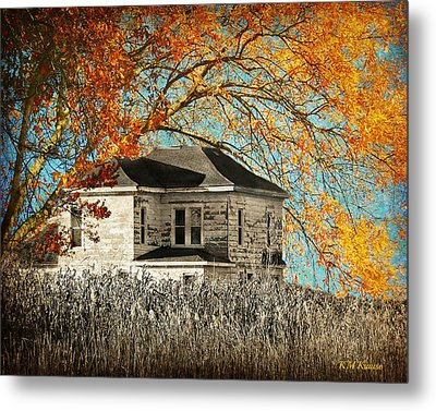 Beauty Surrounds Deserted Home Metal Print by Kathy M Krause