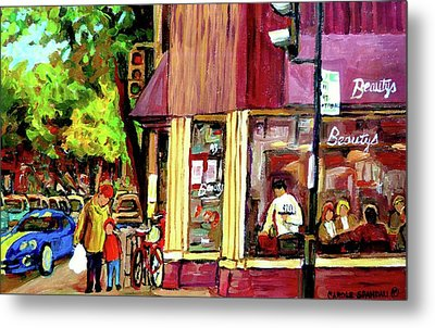 Beautys Luncheonette Montreal Diner Metal Print by Carole Spandau