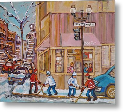 Beautys Restaurant  Metal Print by Carole Spandau