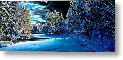 Beaver Brook Panorama Metal Print by David Patterson