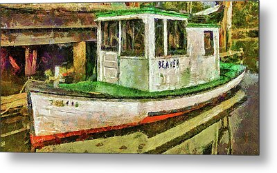 Metal Print featuring the photograph Beaver The Old Fishing Boat by Thom Zehrfeld