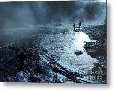 Beaver's Ben Fog Fishing Metal Print by Tamyra Ayles