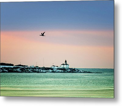 Beavertail Lighthouse In Pastel Colors Metal Print