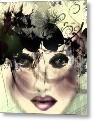 Metal Print featuring the digital art Becca by Katy Breen