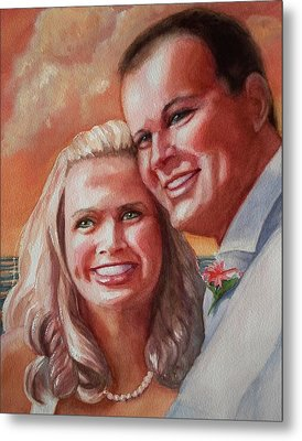 Metal Print featuring the painting Becky And Chris by Marilyn Jacobson
