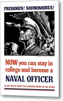 Become A Naval Officer Metal Print by War Is Hell Store