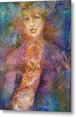 Becoming The Flower Metal Print by Sue Reed