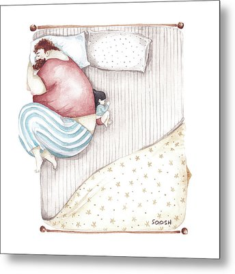 Bed. King Size. Metal Print by Soosh