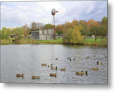 Metal Print featuring the digital art Bedford Village by Sharon Batdorf