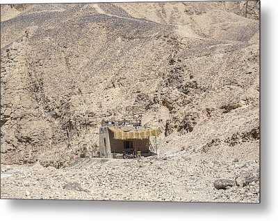bedouin house in the desert in Egypt Metal Print by Joana Kruse