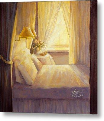 Bedroom Light Metal Print by Jane Weis
