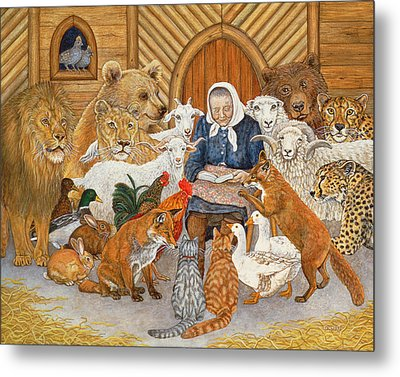 Bedtime Story On The Ark Metal Print
