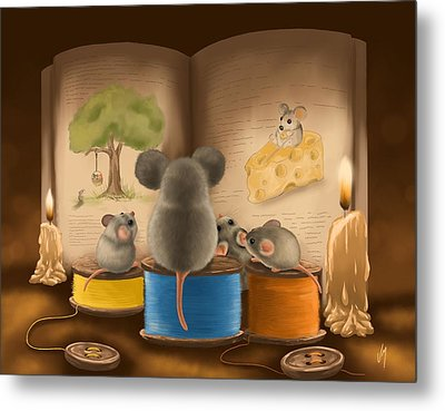 Bedtime Story Metal Print by Veronica Minozzi
