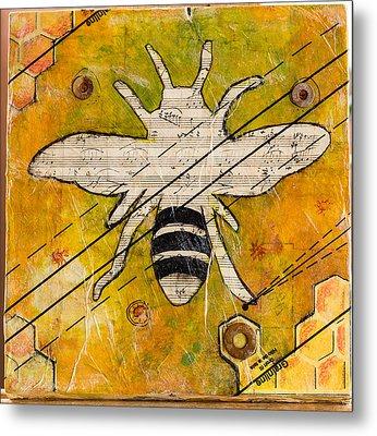Bee Flat Metal Print