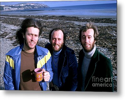 Metal Print featuring the photograph Bee Gees 1976 by Chris Walter