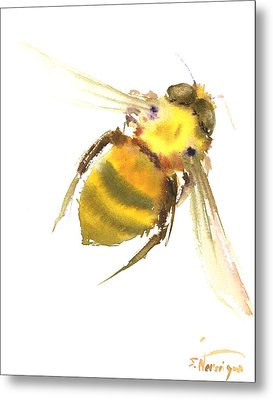 Bee Metal Print by Suren Nersisyan