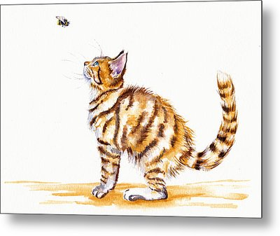 Bee-witched Metal Print by Debra Hall