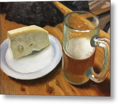 Beer And Jarlsberg Metal Print by Timothy Jones