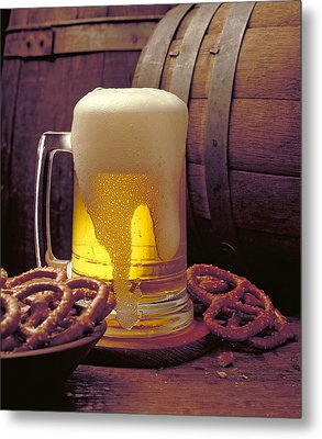 Beer And Pretzels Metal Print by Thomas Firak