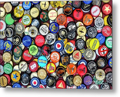 Beer Bottle Caps Metal Print