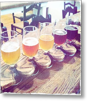 Beer Flight Metal Print