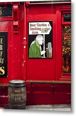 Beer Garden Smoking Area Metal Print by Rae Tucker