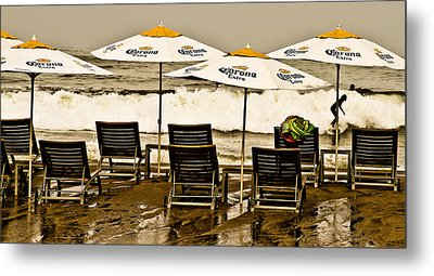 Beer Surf Metal Print