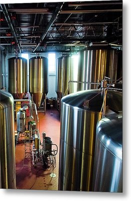 Beer Vats Metal Print by Linda Unger