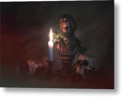 Beethoven By Candlelight Metal Print by Tom Mc Nemar