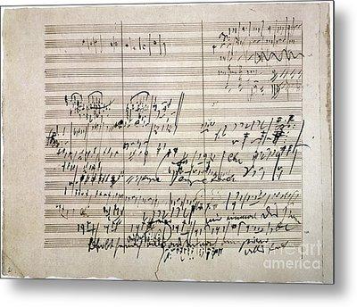 Beethoven Manuscript Metal Print by Granger