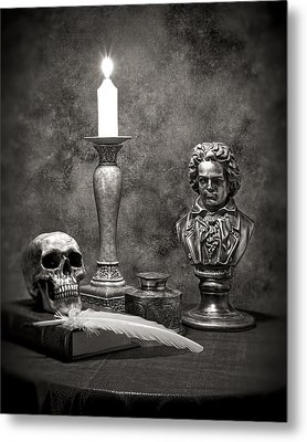 Beethoven Still Life Metal Print by Tom Mc Nemar