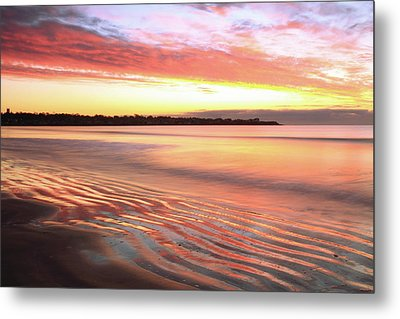 Metal Print featuring the photograph Before Sunrise At First Beach by Roupen  Baker