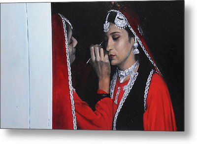Before The Dance At The National Eisteddfod Metal Print
