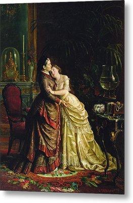 Before The Marriage Metal Print by Sergei Ivanovich Gribkov