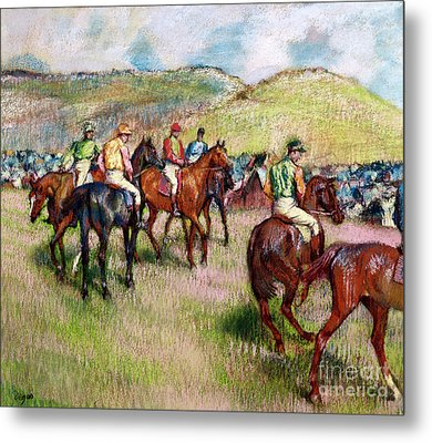 Before The Race Metal Print by Edgar Degas