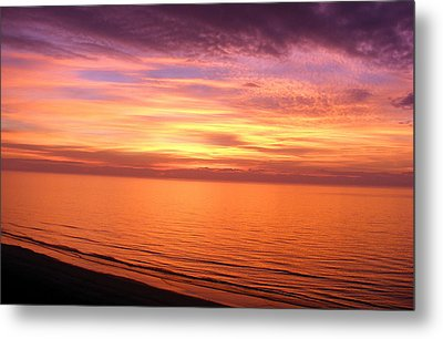 Beginning...new Years Day Sunrise At The Beach Metal Print by Elena Tudor