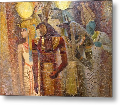 Beginnings. Gods Of Ancient Egypt Metal Print by Valentina Kondrashova