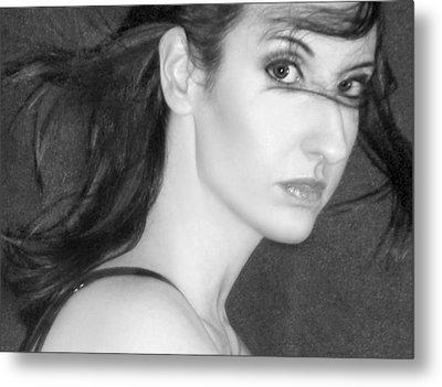 Behind Her Eyes Secrets Sleep... Metal Print by Jaeda DeWalt
